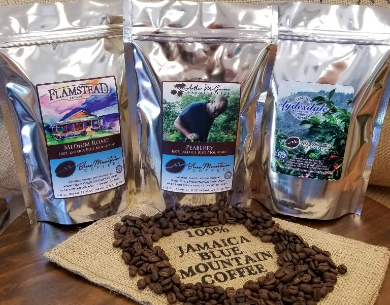 100% Jamaica Blue Mountain Coffee Sample Pack