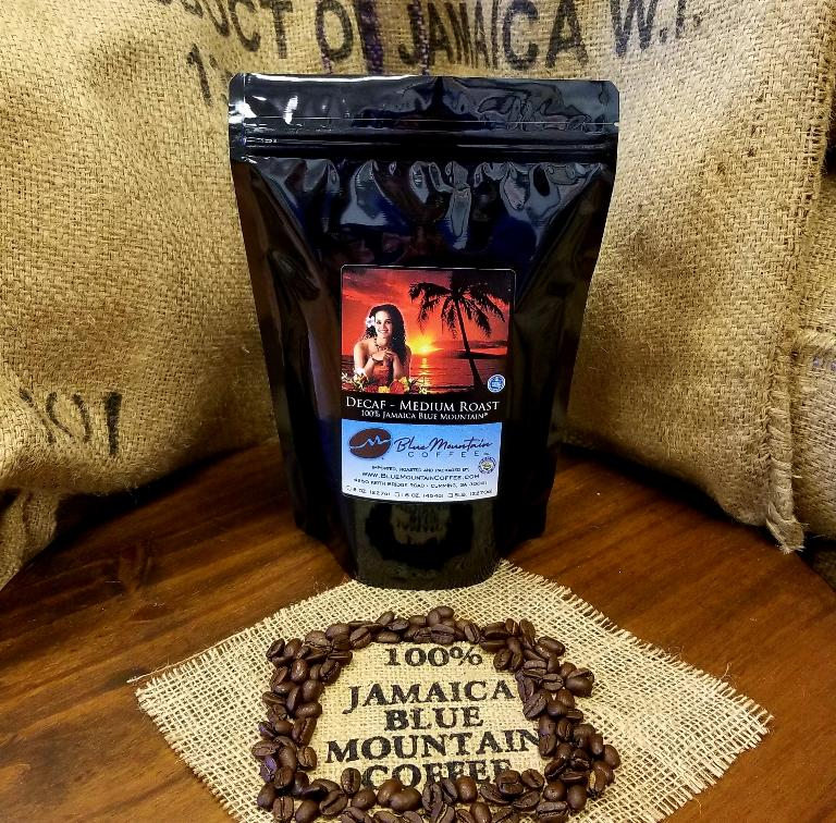 De-Caffeinated 100% Jamaican Blue Mountain Coffee (Swiss Water Process)