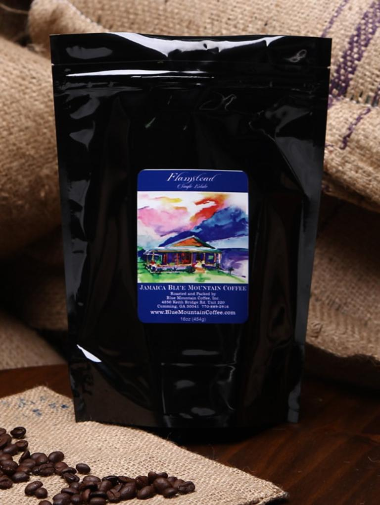 Flamstead Estate's 100% Jamaica Blue Mountain Coffee